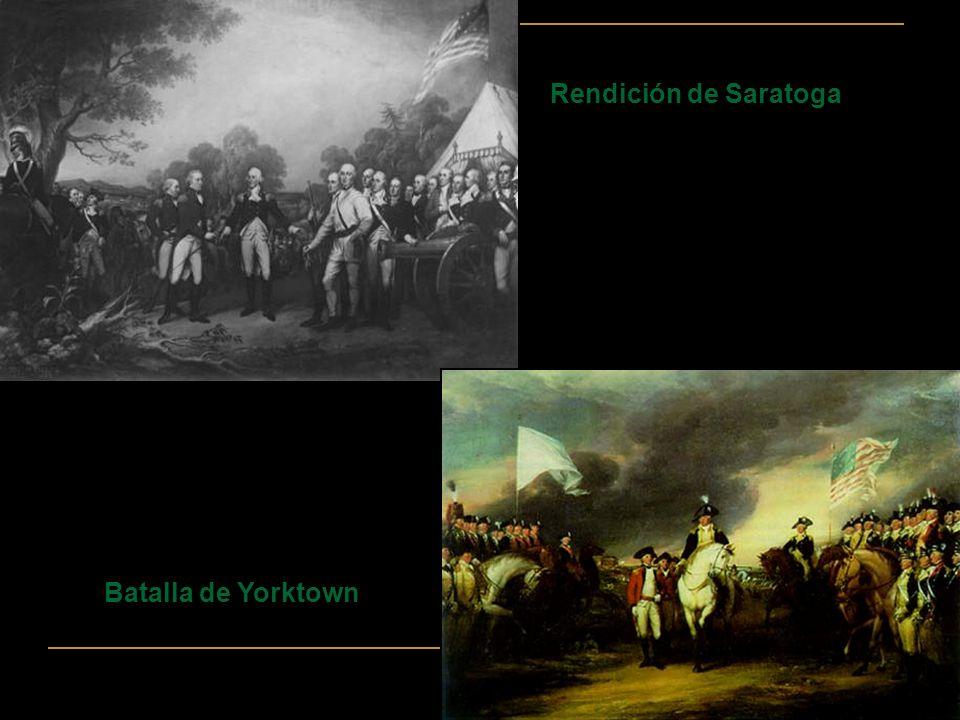 Rendición de Saratoga Batalla de Yorktown