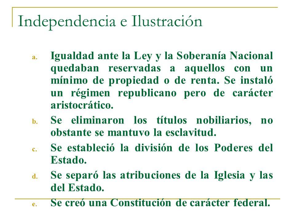 Independencia e Ilustración