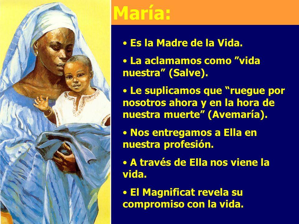 María: Es la Madre de la Vida.