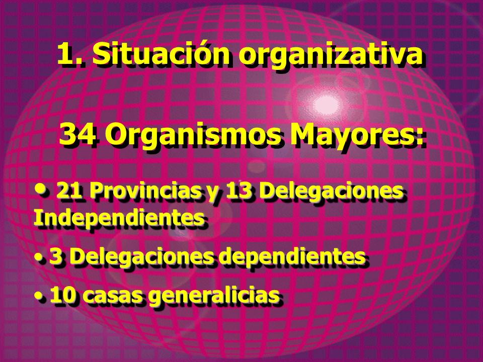 1. Situación organizativa