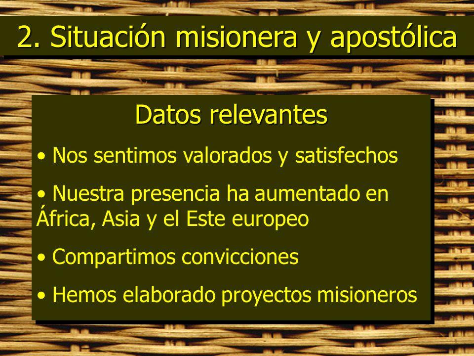 2. Situación misionera y apostólica