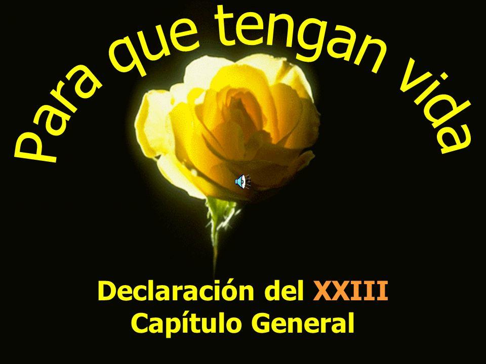 Declaración del XXIII Capítulo General