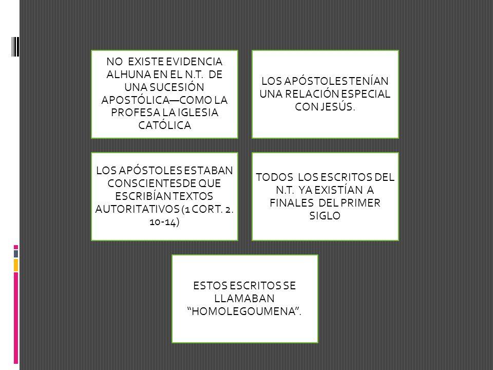 LOS APÓSTOLES TENÍAN UNA RELACIÓN ESPECIAL CON JESÚS.