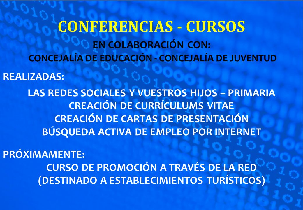 CONFERENCIAS - CURSOS EN COLABORACIÓN CON: