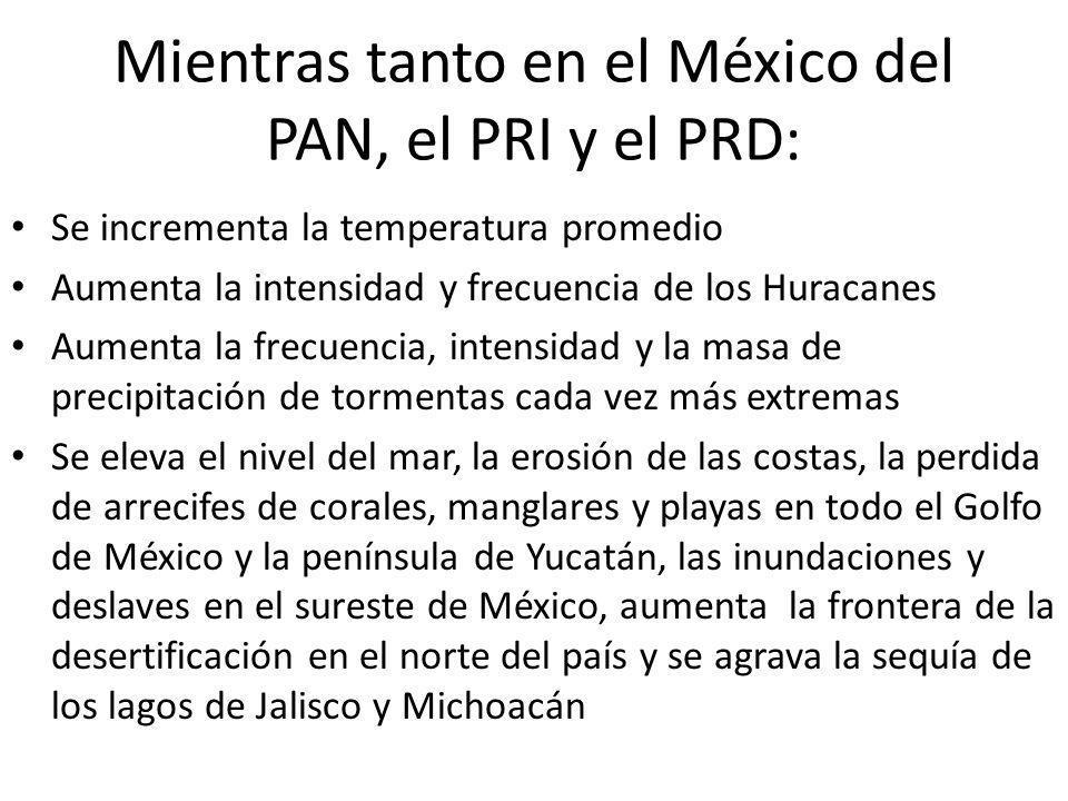 Mientras tanto en el México del PAN, el PRI y el PRD: