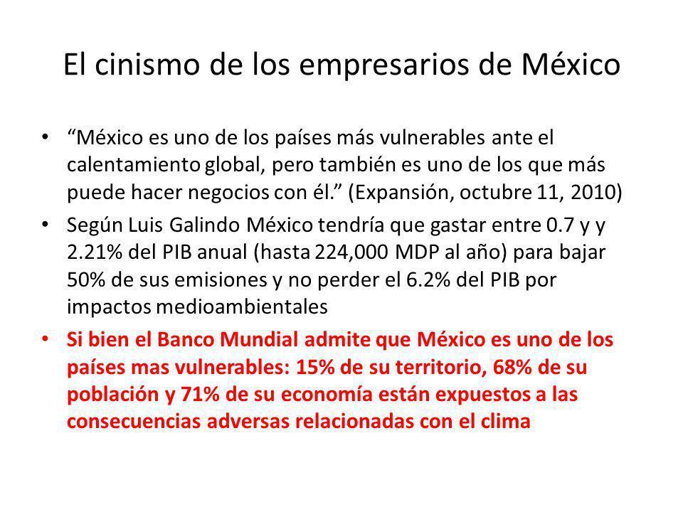 El cinismo de los empresarios de México