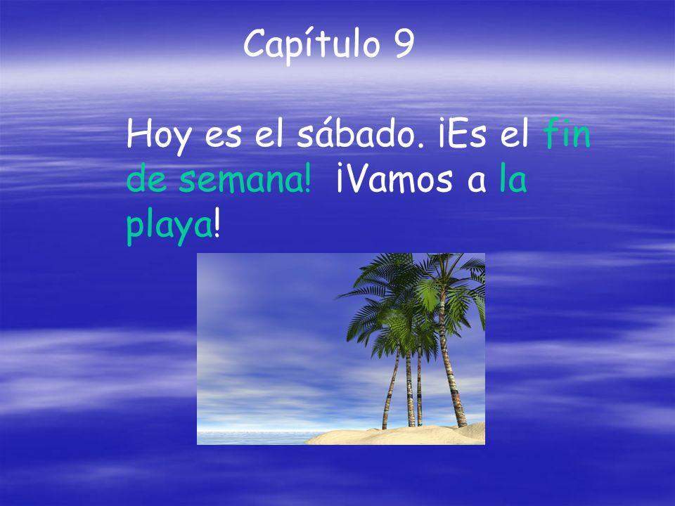 Capítulo 9 Hoy es el sábado. ¡Es el fin de semana! ¡Vamos a la playa!