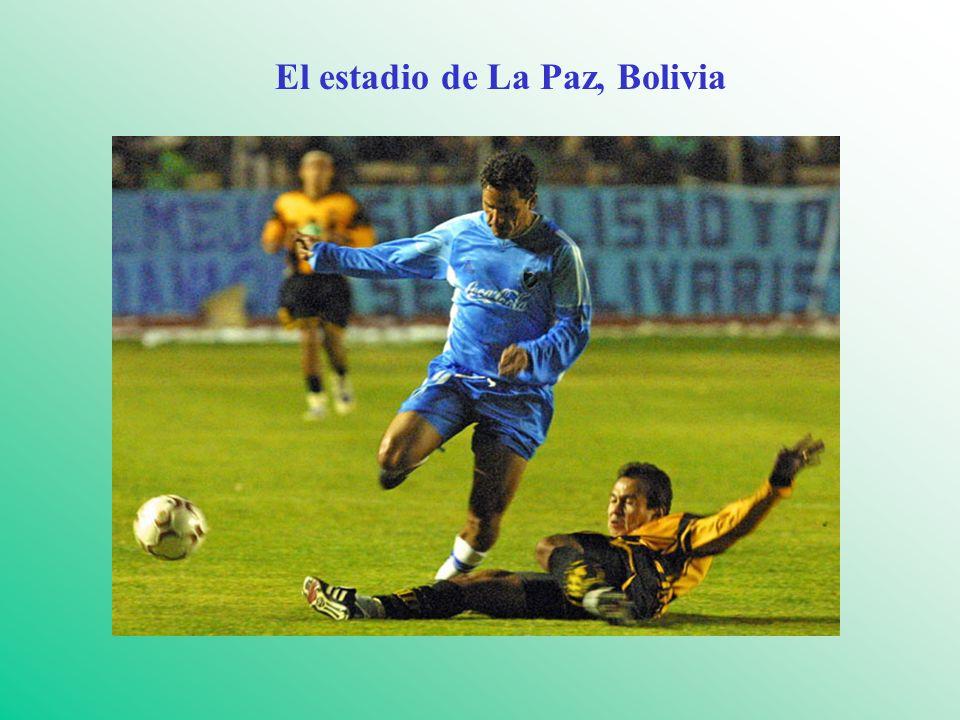 El estadio de La Paz, Bolivia