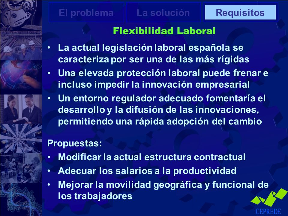 Modificar la actual estructura contractual
