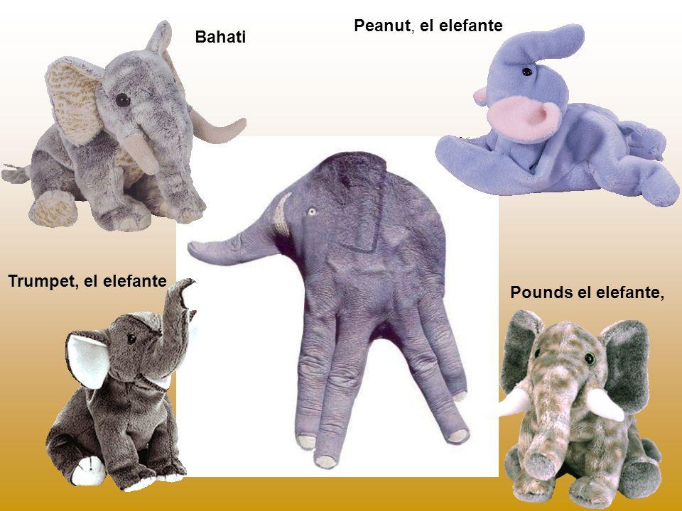 Peanut, el elefante Bahati Trumpet, el elefante Pounds el elefante,