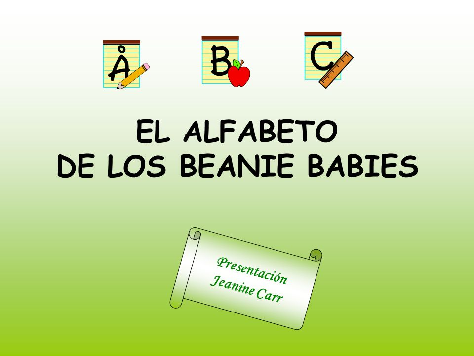 EL ALFABETO DE LOS BEANIE BABIES