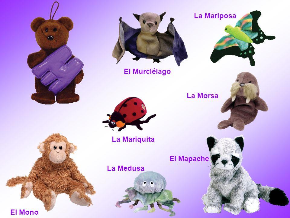 La Mariposa El Murciélago La Morsa La Mariquita El Mapache La Medusa El Mono
