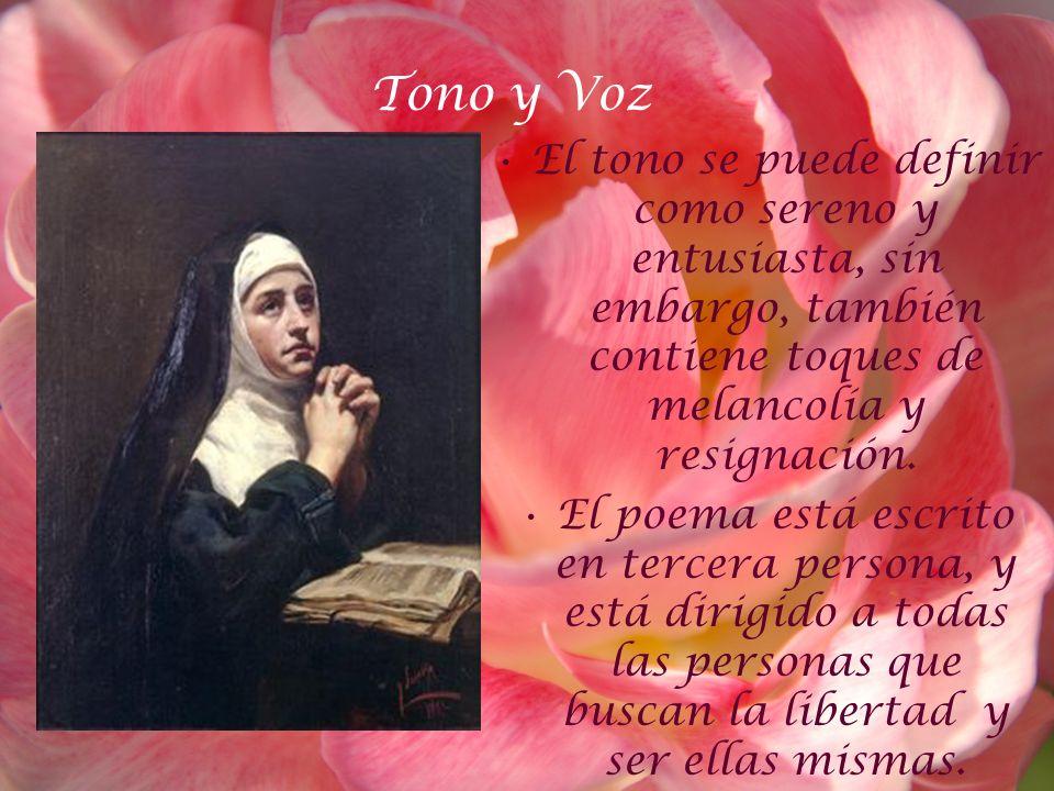 Tono y VozEl tono se puede definir como sereno y entusiasta, sin embargo, también contiene toques de melancolía y resignación.