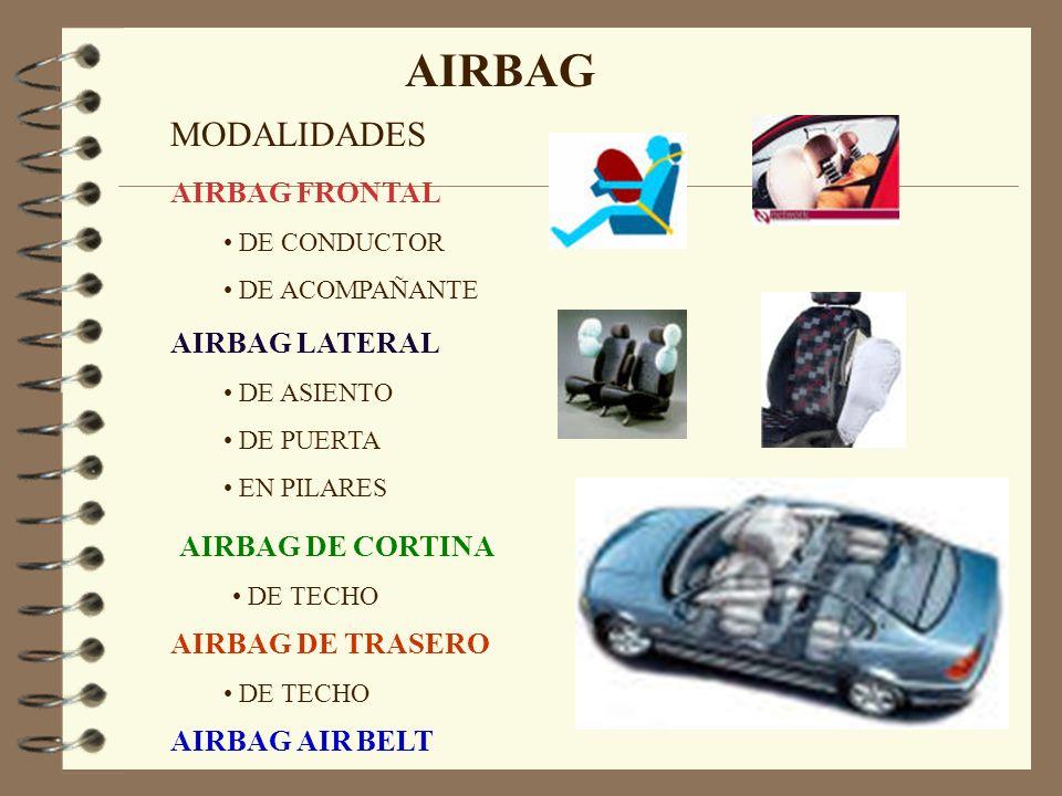 AIRBAG MODALIDADES AIRBAG FRONTAL AIRBAG LATERAL AIRBAG DE CORTINA