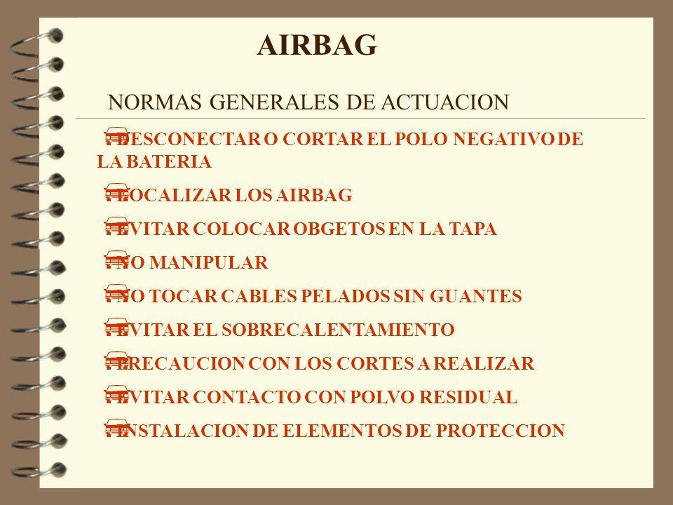 AIRBAG NORMAS GENERALES DE ACTUACION