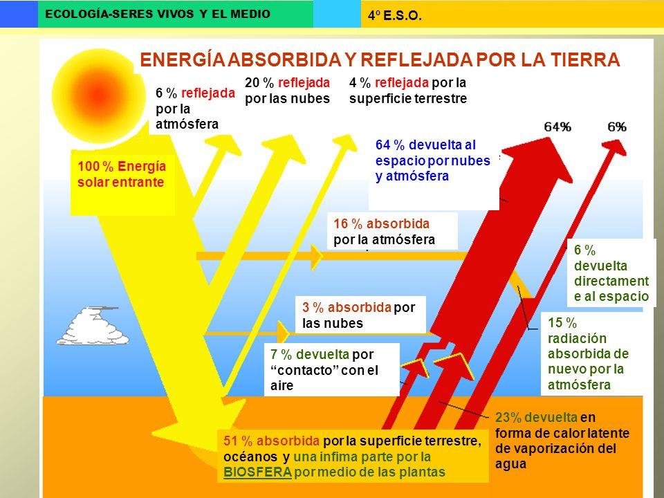 ENERGÍA ABSORBIDA Y REFLEJADA POR LA TIERRA