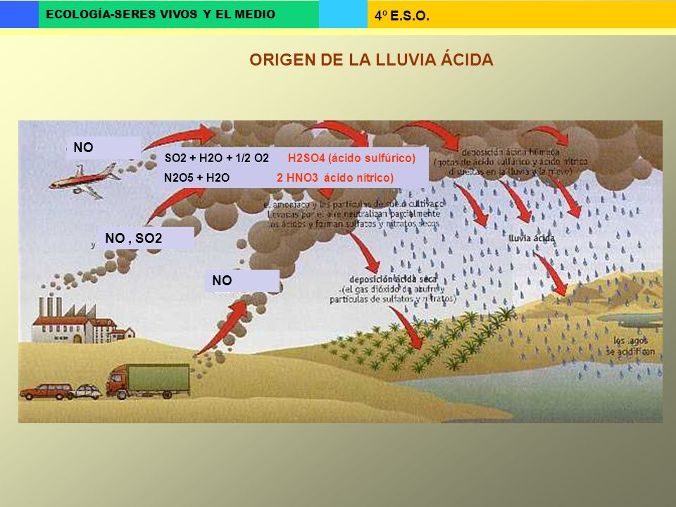 ORIGEN DE LA LLUVIA ÁCIDA