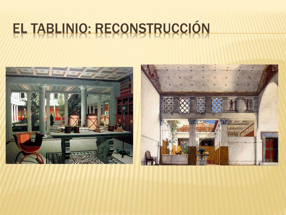 El tablinio: reconstrucción