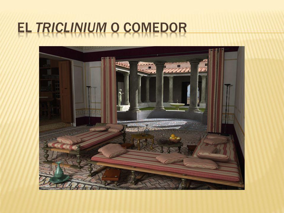 El triclinium o comedor