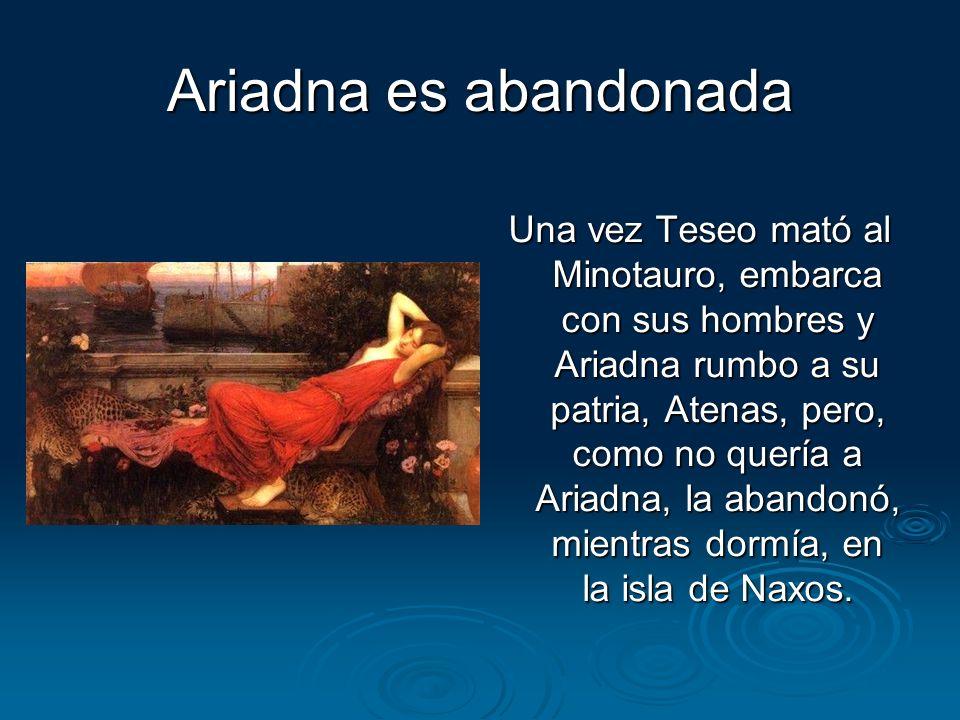 Ariadna es abandonada