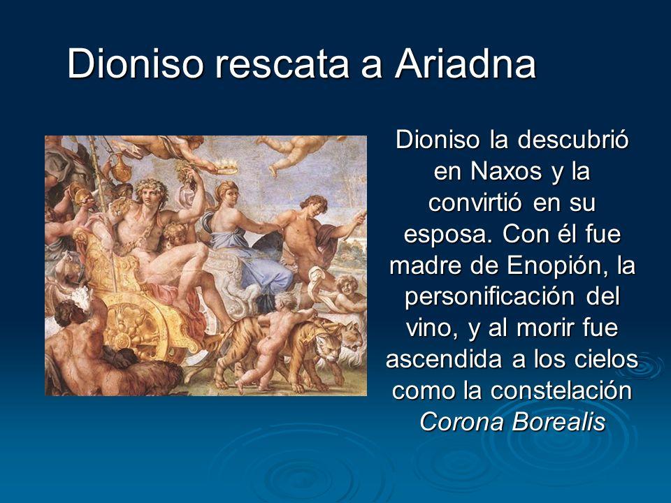 Dioniso rescata a Ariadna
