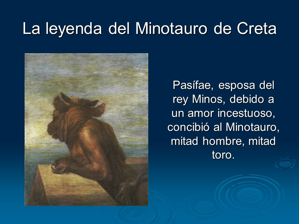 La leyenda del Minotauro de Creta