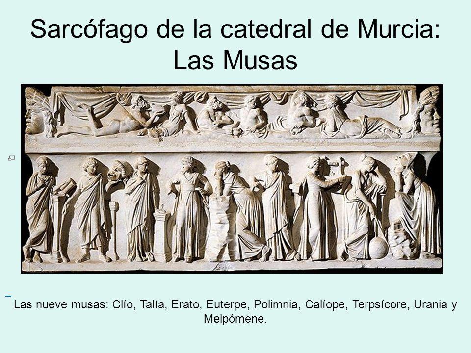 Sarcófago de la catedral de Murcia: Las Musas