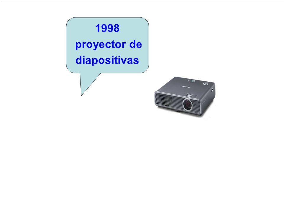 c 1998 proyector de diapositivas