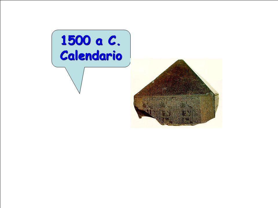 1500 a C. Calendario