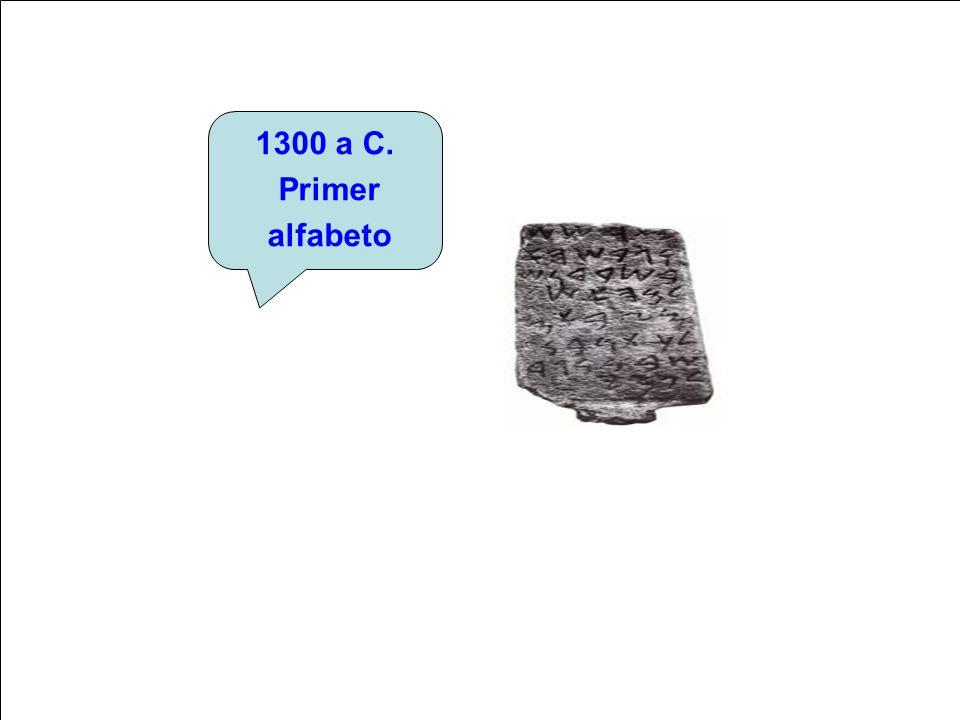 1300 a C. Primer alfabeto