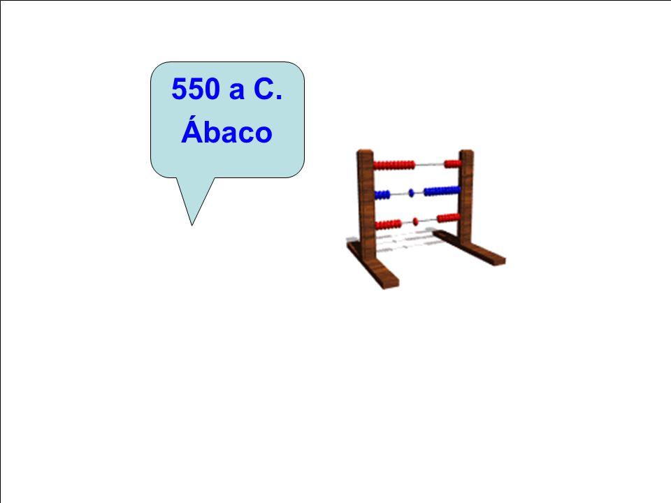 550 a C. Ábaco