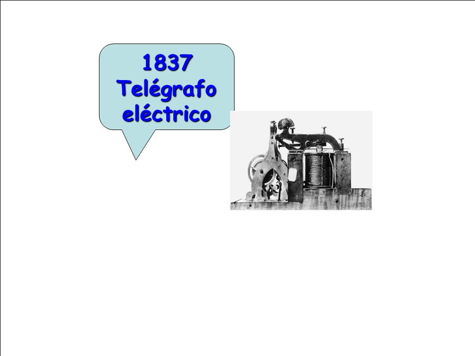 1837 Telégrafo eléctrico
