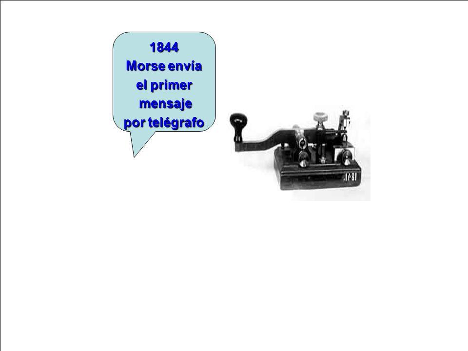 1844 Morse envía el primer mensaje por telégrafo