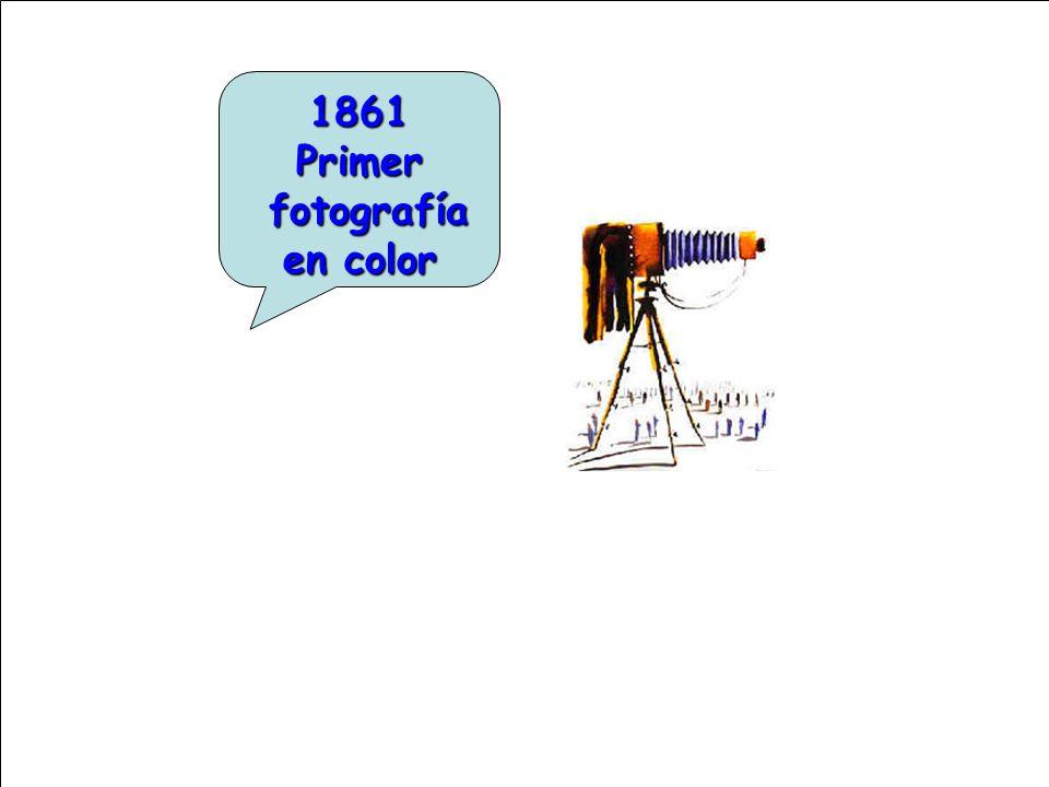 1861 Primer fotografía en color