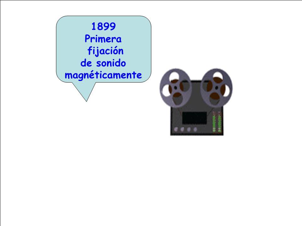 1899 Primera fijación de sonido magnéticamente