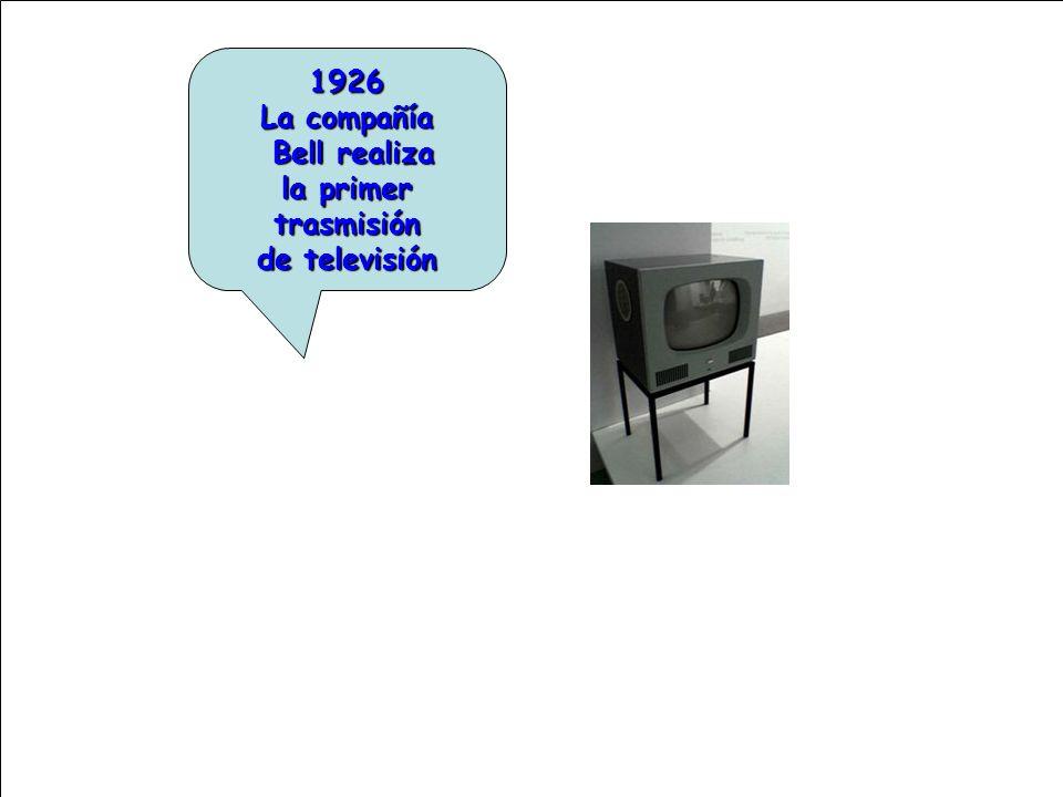 1926 La compañía Bell realiza la primer trasmisión de televisión