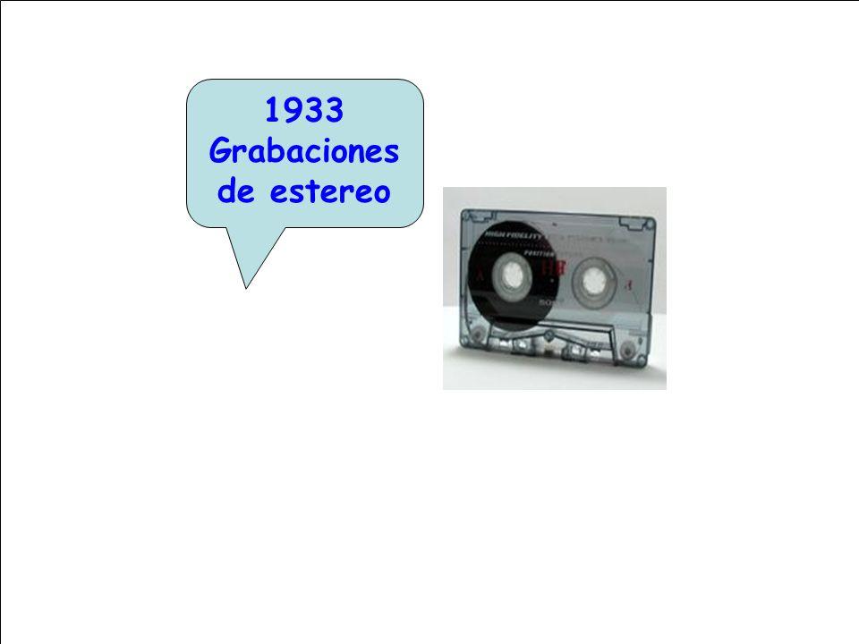 1933 Grabaciones de estereo