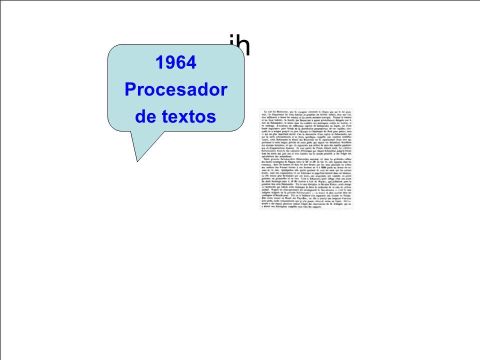 jh 1964 Procesador de textos
