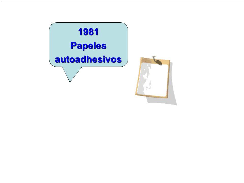 1981 Papeles autoadhesivos