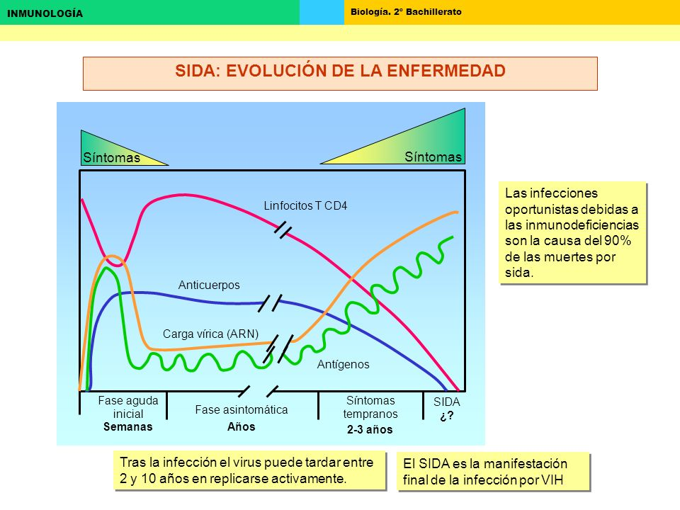 SIDA: EVOLUCIÓN DE LA ENFERMEDAD