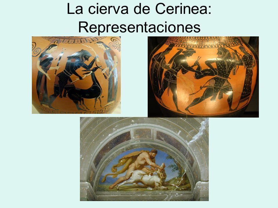 La cierva de Cerinea: Representaciones