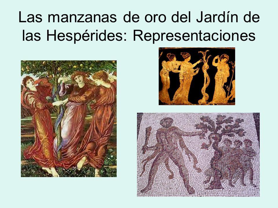Las manzanas de oro del Jardín de las Hespérides: Representaciones