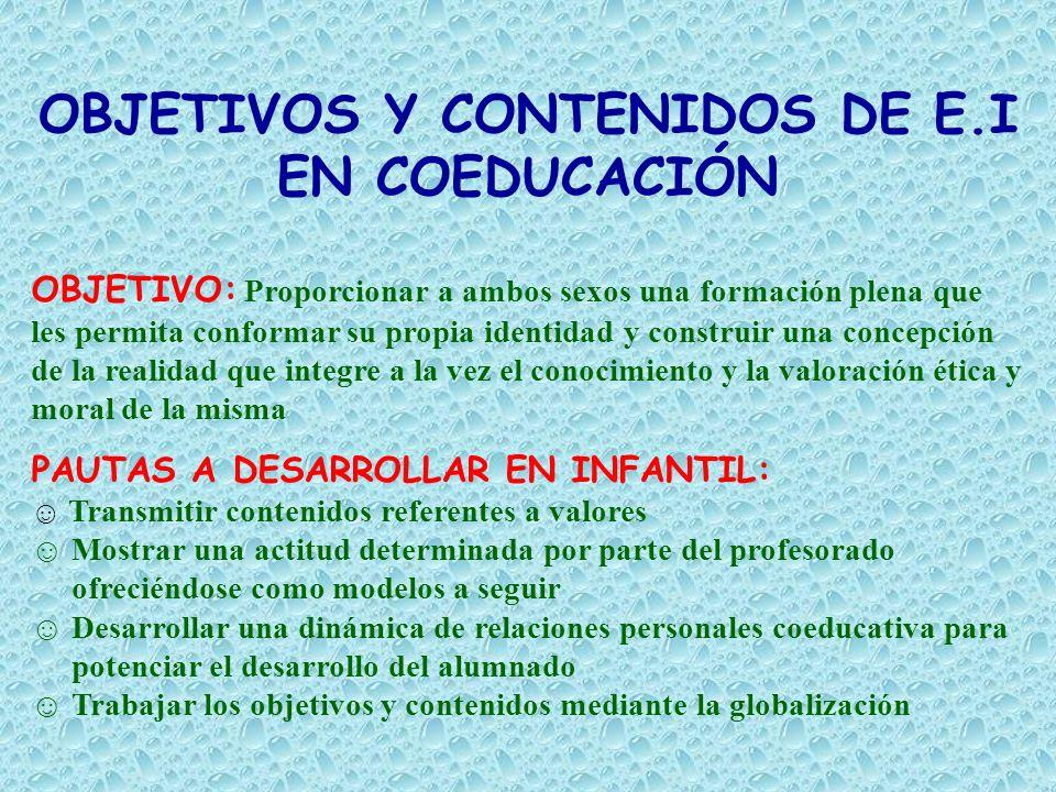 OBJETIVOS Y CONTENIDOS DE E.I
