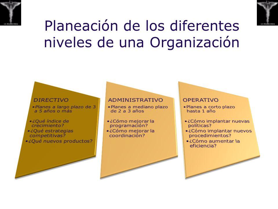 Planeación de los diferentes niveles de una Organización