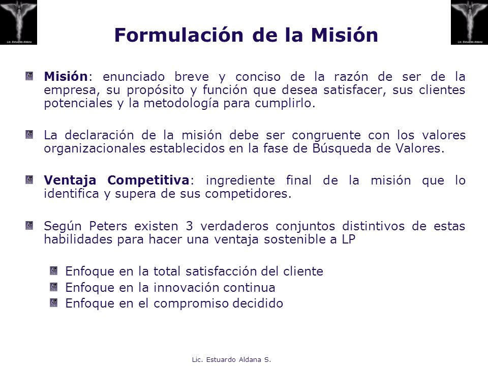 Formulación de la Misión
