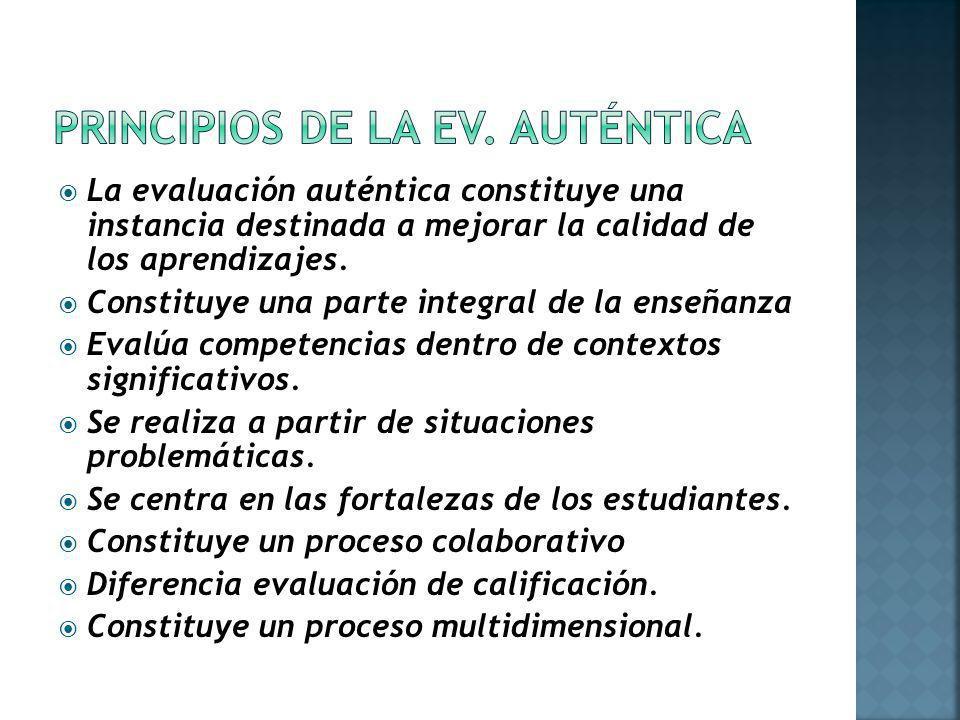 PRINCIPIOS DE LA EV. AUTÉNTICA