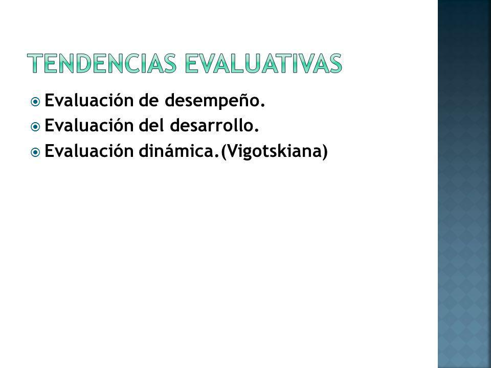 TENDENCIAS EVALUATIVAS