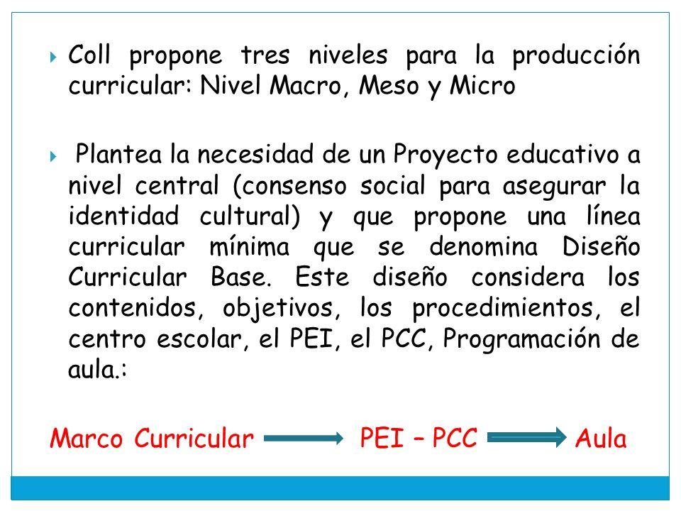 Marco Curricular PEI – PCC Aula