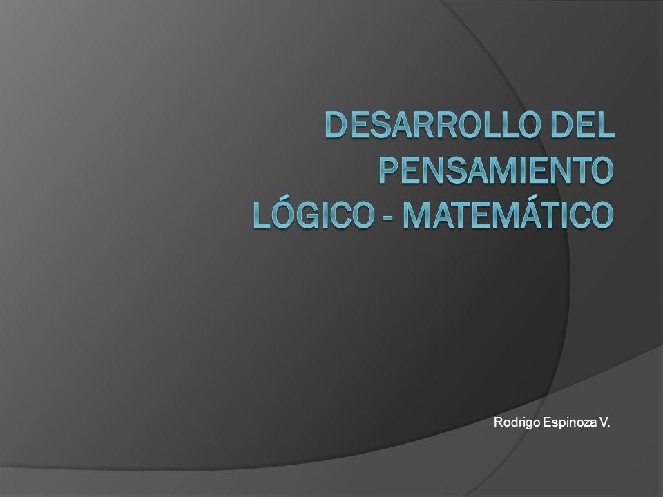 DESARROLLO DEL PENSAMIENTO LÓGICO - matemático
