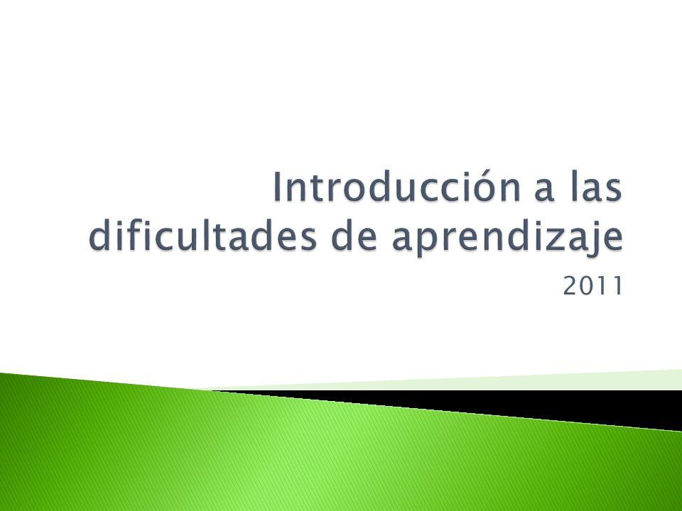 Introducción a las dificultades de aprendizaje